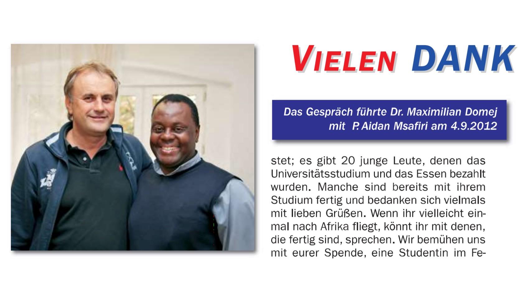 Hilfsprojekt Licht Mariens 2012