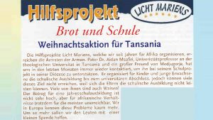 Bericht der Gebetsaktion Medjugorje im Heft 95