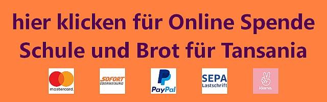 Online Spenden mittels PayPal, Kreditkarte, SOFORT, Klarna, SEPA Überweisung